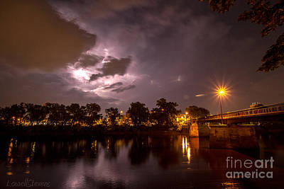 In Eau Claire Wi Photograph - Lightning Storm by Lowell Stevens