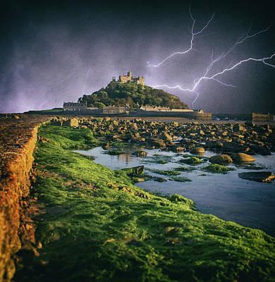 Cornwall Wall Art - Photograph - Lightning Storm by Martin Newman