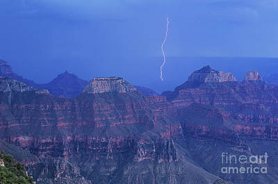 Photograph - Lightning Storm North Rim Grand Canyon National Park by Dave Welling