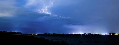 Photograph - Lightning Storm by Tyson Kinnison