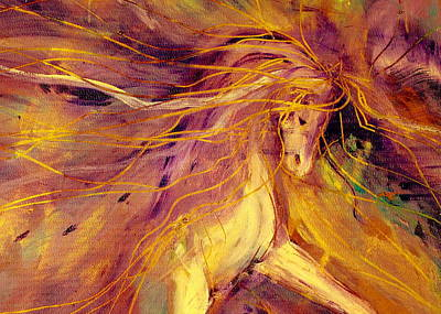 Sporthorse Painting - Lightning Stride by Jennifer Fosgate