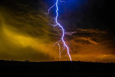 Photograph - Lightning Strike by Carmen Tosca