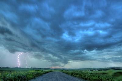 Photograph - Lightning Strike by Dave Rennie