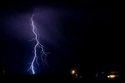 Photograph - Lightning Strike Over Presidio Texas by SR Green