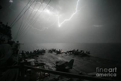 Dod Painting - Lightning Strikes by Celestial Images