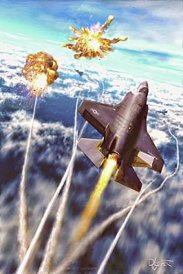 Digital Art - Lightning Strikes by Dave Luebbert