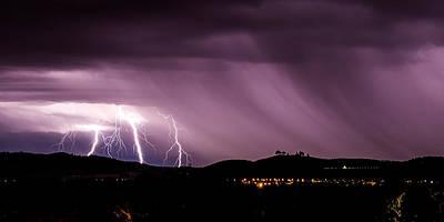 Lightning Photograph - Lightning Strikes Near The National Arboretum by Glenn Martin