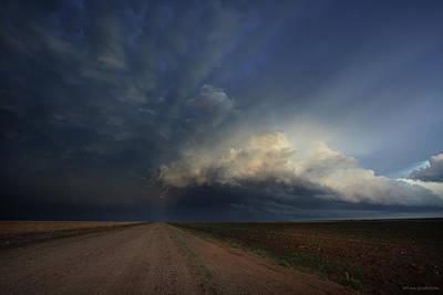 Heat Lightning Photograph - Lighting The Way by Brian Gustafson