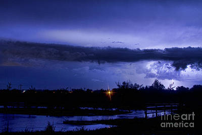 Lightning Thunderstorm July 12 2011 St Vrain Art Print