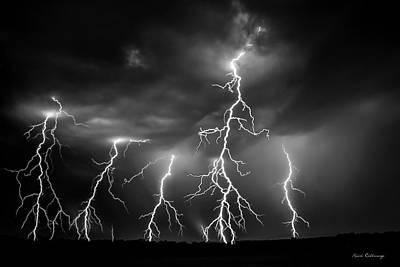Images Lightning Photograph - Lightning Thunderstorm Weather Art by Reid Callaway