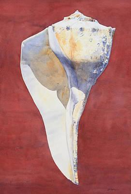 Painting - Lightning Whelk Conch I by Tyler Ryder