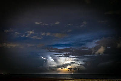 Photograph - Lightning's Water Dance by Steven Santamour