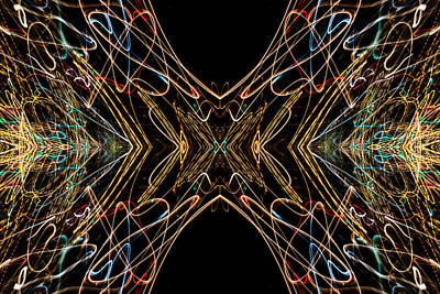 Photograph - Lightpainting Abstract Symmetry Ufa Prints #15 by John Williams