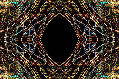 Photograph - Lightpainting Abstract Symmetry Ufa Prints #16 by John Williams
