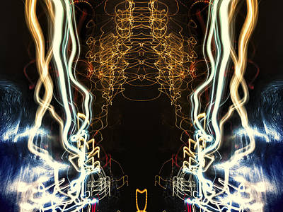 Photograph - Lightpainting Abstract Symmetry Ufa Prints #5 by John Williams