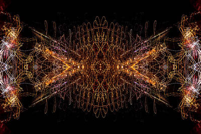Photograph - Lightpainting Abstract Symmetry Ufa Prints #7 by John Williams