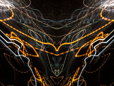 Photograph - Lightpainting Abstract Symmetry Ufa Prints #8 by John Williams