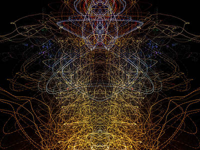Photograph - Lightpainting Abstract Symmetry Ufa Prints #9 by John Williams