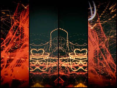 Photograph - Lightpainting Quads Art Print Photograph 1 by John Williams