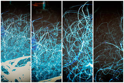 Photograph - Lightpainting Quads Art Print Photograph 2 by John Williams