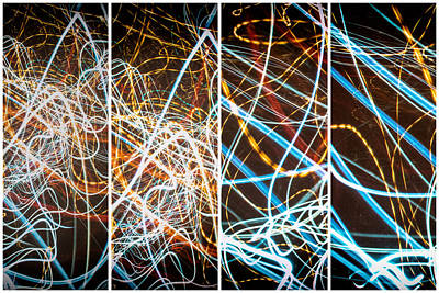Photograph - Lightpainting Quads Art Print Photograph 3 by John Williams