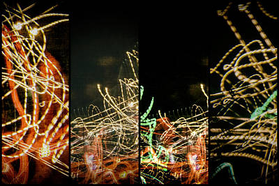 Photograph - Lightpainting Quads Art Print Photograph 5 by John Williams