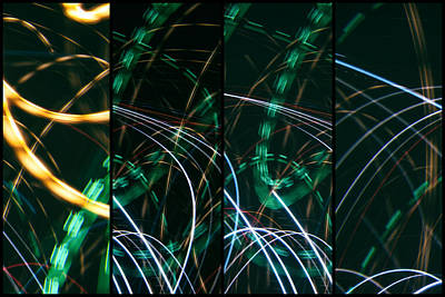 Photograph - Lightpainting Quads Art Print Photograph 6 by John Williams