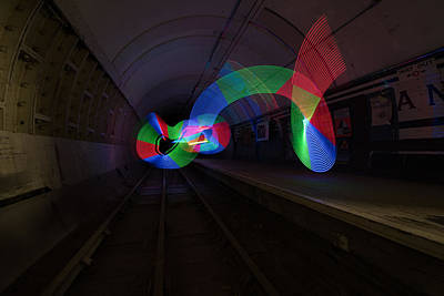 Lightpainting Art Print by Ronnie Day