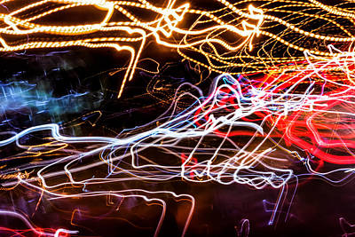 Photograph - Lightpainting Single Wall Art Print Photograph 6 by John Williams