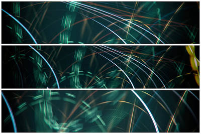Photograph - Green Film Grain Lightpainting Abstract by John Williams