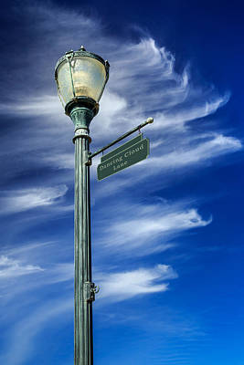 Photograph - Lightpost On Dancing Cloud Lane by James Eddy