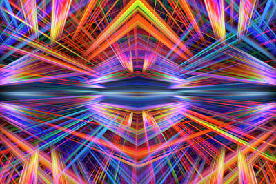 Digital Art - Lights 1 by Steve Ball