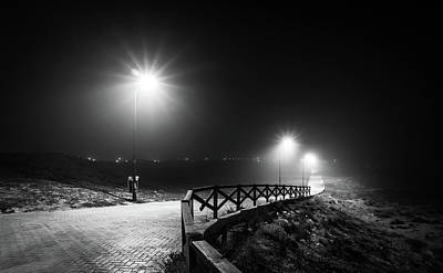 Photograph - Lights And Fences. by Gary Gillette