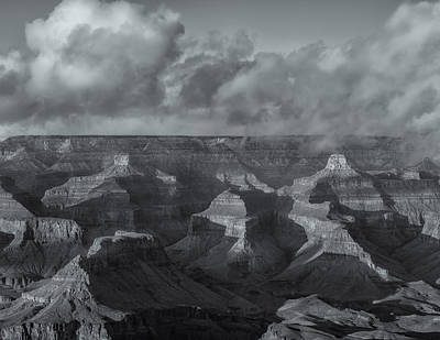 Photograph - Lights And Shadows In The Canyon Bw by Jonathan Nguyen