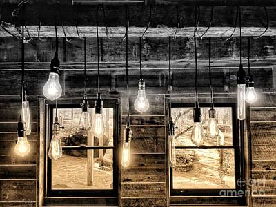 Photograph - Lights And Windows 3 by Rachel Hannah