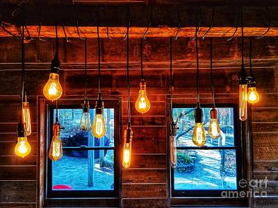 Photograph - Lights And Windows by Rachel Hannah