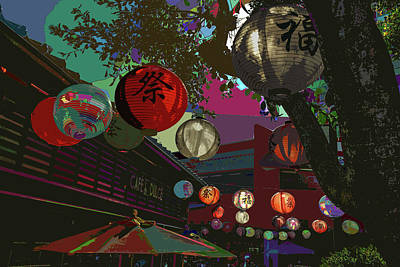 Photograph - lights are on in little Tokyo by Kenneth James