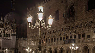 Photograph - Lights In Piazza San Marco Venice  by John McGraw