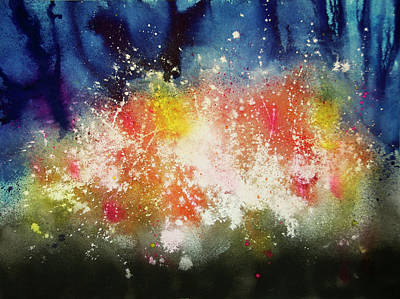 Wall Art - Painting - Lights In The Forest by Terry Arroyo Mulrooney
