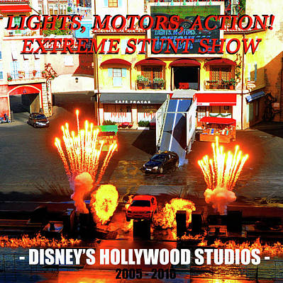 Photograph - Lights, Motors, Action Poster by David Lee Thompson