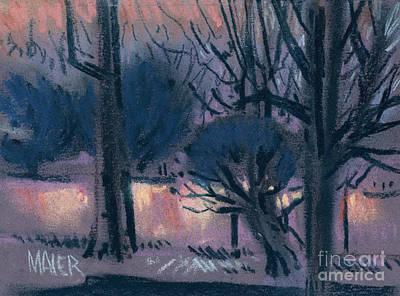 Painting - Lights Next Door by Donald Maier