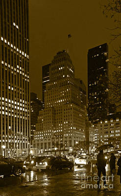 Lights Of 5th Ave. Art Print