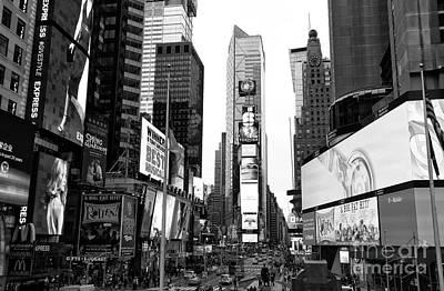 Lights Of Broadway Art Print by John Rizzuto