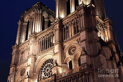 Photograph - Lights Of Notre Dame by John Rizzuto