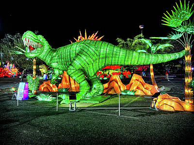 Photograph - Lights Of The World Dinosaur 1 by C H Apperson