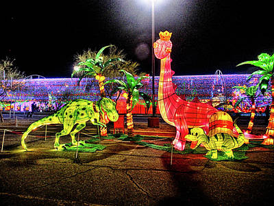 Photograph - Lights Of The World Dinosaur 2 by C H Apperson