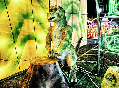 Photograph - Lights Of The World Dinosaur 3 by C H Apperson