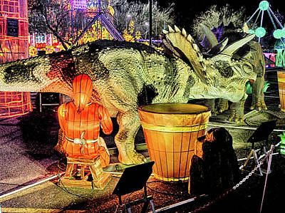 Photograph - Lights Of The World Dinosaur 4 by C H Apperson