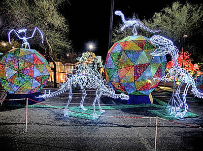 Photograph - Lights Of The World Dinosaur 5 by C H Apperson