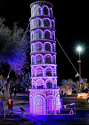 Photograph - Lights Of The World Leaning Tower Of Pisa by C H Apperson